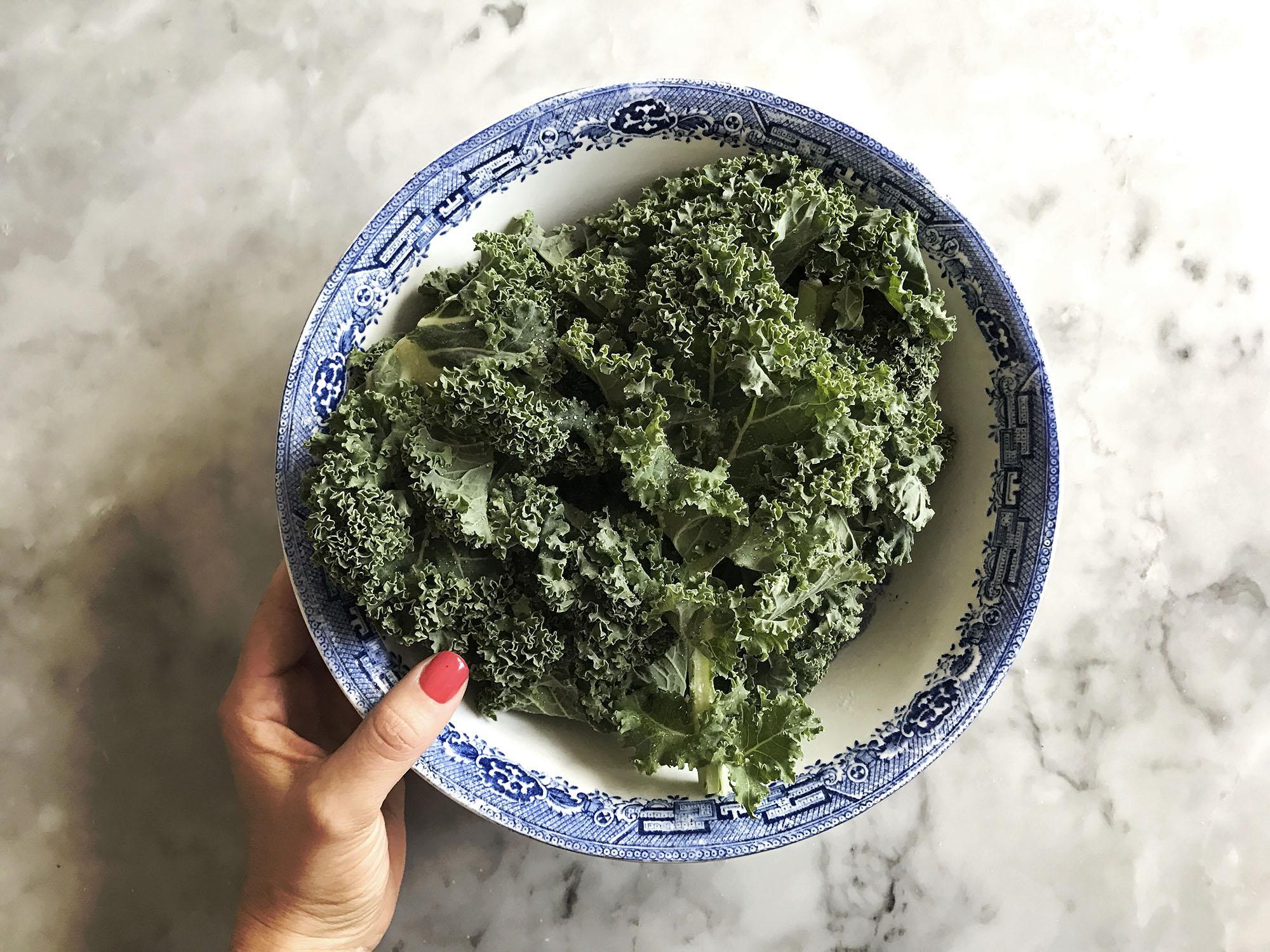 grönkål i ugn som chips