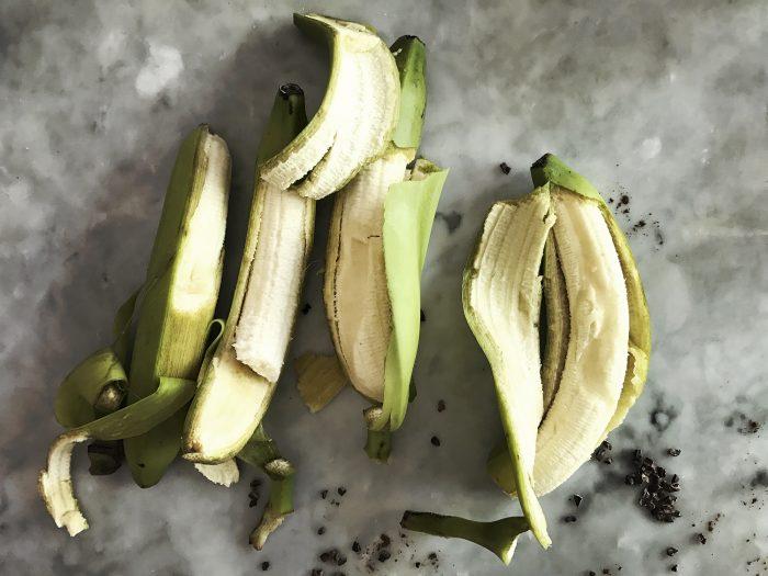 kokosglass gröna bananer bekämpningsmedel